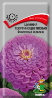 Цинния георгиноцветковая Фиолетовая королева (0,4 г) /Поиск/