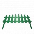 Забор Флора 1 секция 38х25см зеленый /Флора-Пласт/