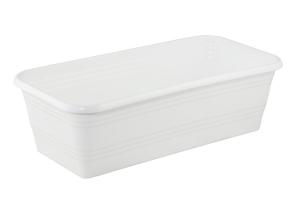 Ящик для рассады и цветов 390*195*120 Декор белый без поддона /ИнтерМ/