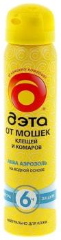 Аэрозоль профессиональный 75 мл ДЭТА АКВА (AQUA) /Химик/