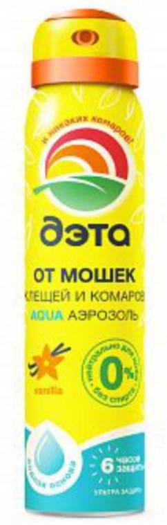 Аэрозоль от мошек, клещей и комаров 100 мл ДЭТА АКВА (AQUA) /Химик/