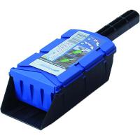 Совок для внесения удобрений 95х290х65 0,7 л голубой/Флора-Пласт/