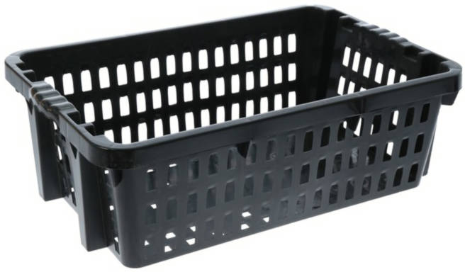 Ящик хозяйственный,цвет черный /Поиск/