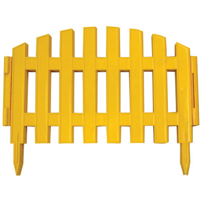 Забор декоративный №2 Ампир желтый /Полисад/ (5)