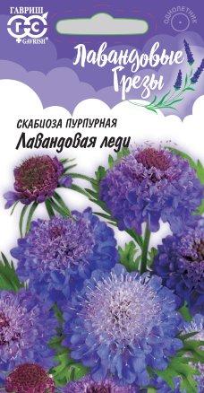 Скабиоза пурпурная Лавандовая леди махровая /Гавриш/ Лавандовые грезы
