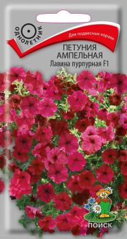 Петуния ампельная Лавина пурпурная F1 (10 шт) /Поиск/