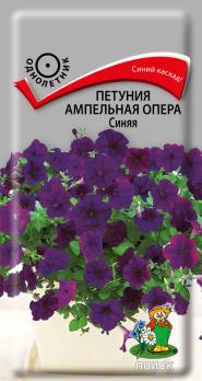 Петуния ампельная Опера Синяя (5 шт) /Поиск/