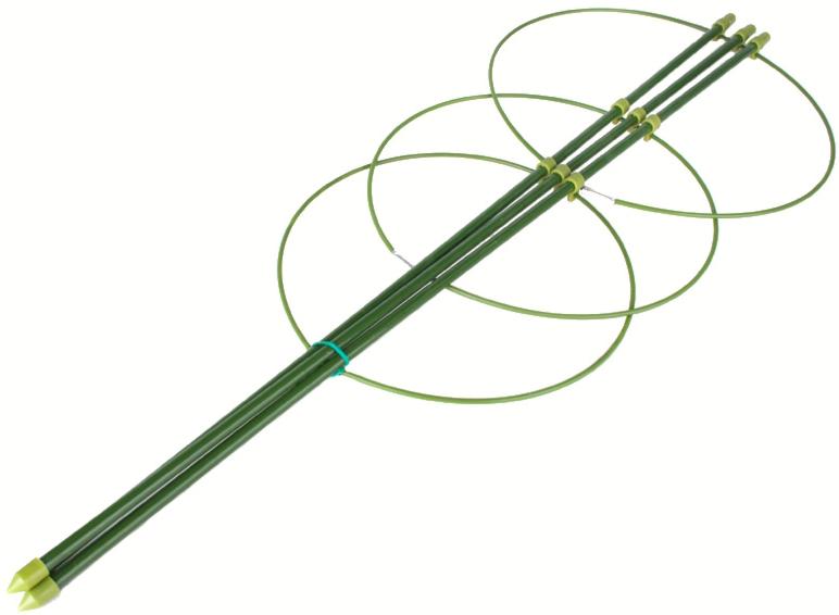Кольцевой держатель для растений h 60cм 3 кольца  /LISTOK/