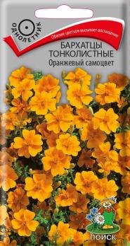 Бархатцы тонколистные Оранжевый самоцвет (0,1 г) /Поиск/