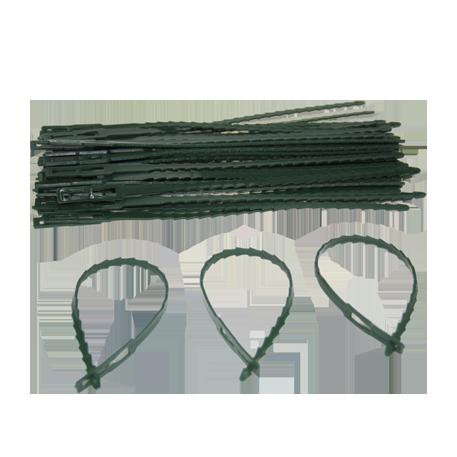 Ремешок для подвязки растений №3 24 см терра зеленый белый /Флора-Пласт/