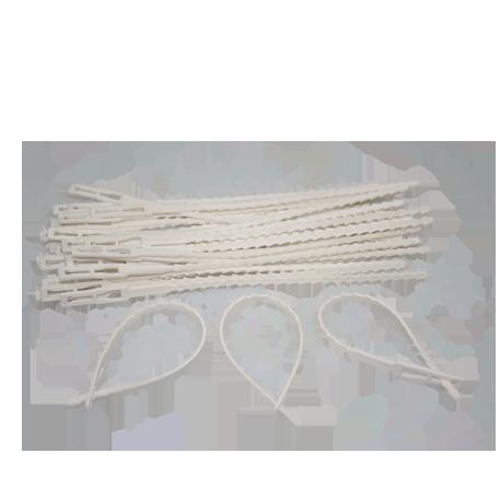 Ремешок для подвязки растений №2 18 см терра зеленый белый /Флора-Пласт/