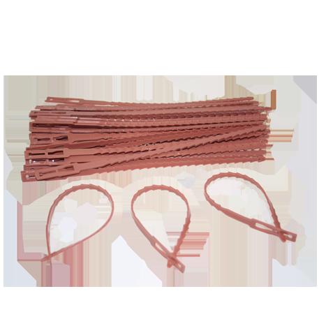 Ремешок для подвязки растений №1 12 см терра зеленый белый /Флора-Пласт/
