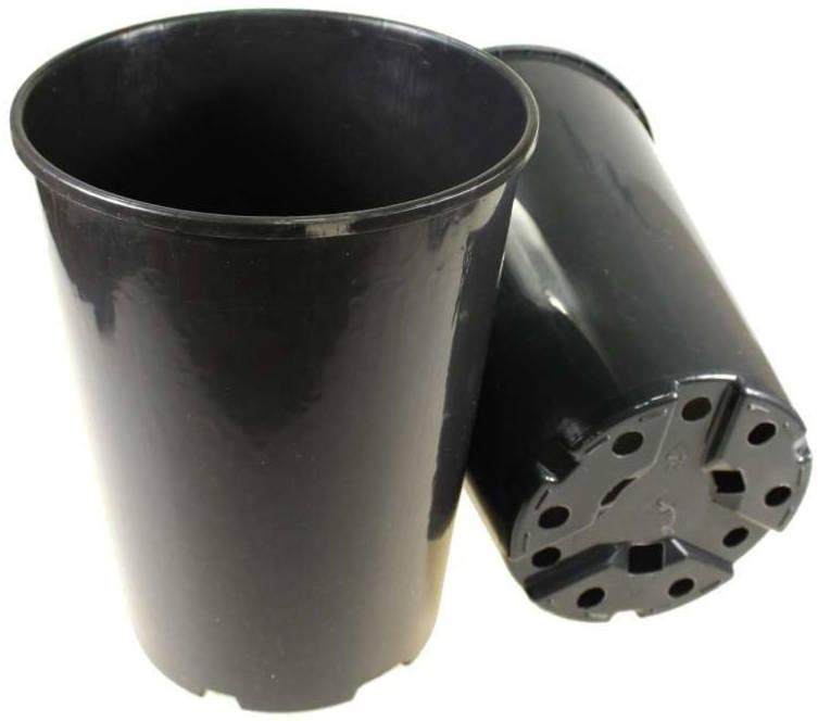 Горшок черный под розы 3 л d16 h20,5 /Агроком/
