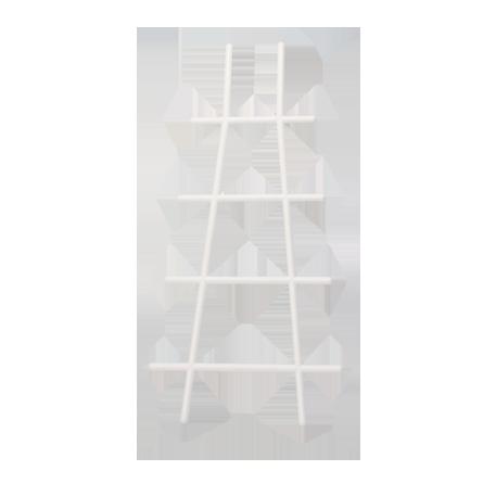 Решетка для вьюнов 40 см белый /Флора-Пласт/