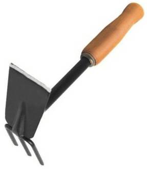Мотыжка Комбинированная 3-х зубые грабли с деревянной ручкой Эксперт /УРОЖАЙНАЯ СОТКА/ Арти
