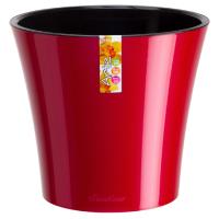 Горшок АРТЕ 0,6л красный-черный d11 h9,7 /Сантино/ (45)