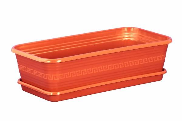 Ящик для рассады и цветов 450*225*125 Декор терракот с поддоном /ИнтерМ/