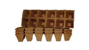 Торфяной горшочек 50*50 квадратный (блок 6х2=12шт.) /Экоторф/