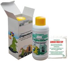 Горыныч бинарный биопрепарат для туалетов и выгребных ям 0,5 л /БашИнком/