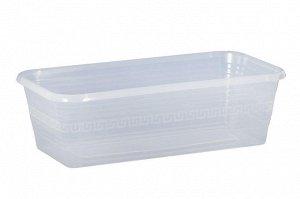 Ящик для рассады и цветов 390*195*120 Декор прозрачный без поддона /ИнтерМ/