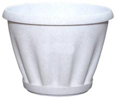 Горшок Знатный 6,7л d270 мрамор c поддоном /Материя Пластика/ (15)