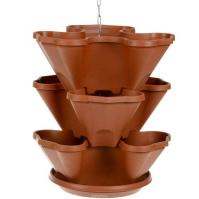 Каскад подвесной 3-х ярусный на 9 растений + поддон терра /Дарел/