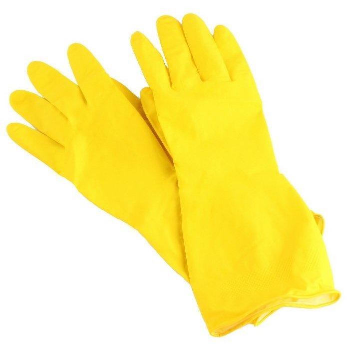 Перчатки латексные повышенной прочности с хлопковым напылением RC-LF размер XL /РыжийКот/