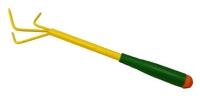 Рыхлитель 3-х зубый желтый с зеленой ручкой Репка /Диорит/