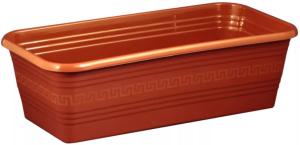 Ящик для рассады и цветов 390*195*120 Декор терракот без поддона /ИнтерМ/