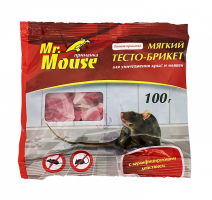 Тесто-брикет от грызунов 100 г Mr.Mouse /Аванти/