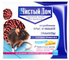 Гранулы от крыс и мышей с запахом сыра 100 г /Чистый Дом/
