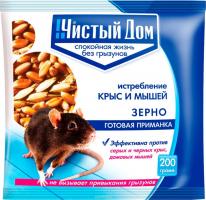 Зерновая приманка от крыс и мышей Форэт 200г /Чистый Дом/
