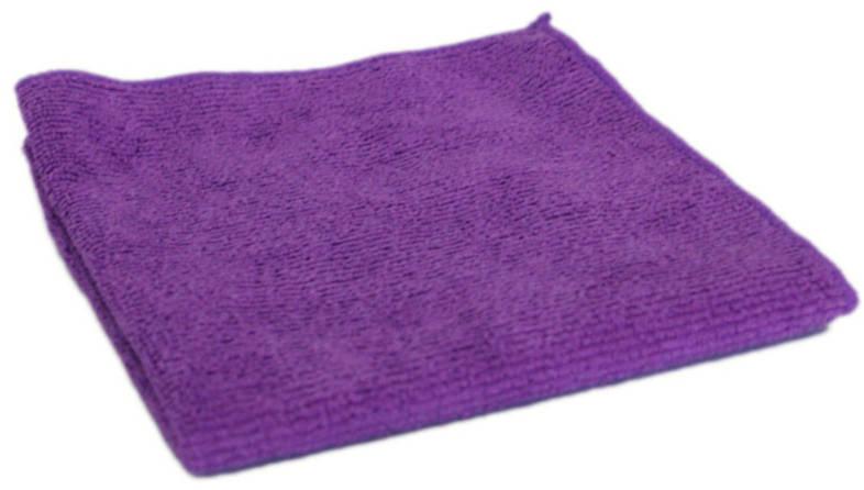Салфетка из микрофибры 30*30 М-02 (250 гр) фиолетовая /РыжийКот/