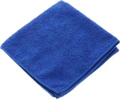 Салфетка из микрофибры 30*30 М-01 (200 гр) синяя /РыжийКот/