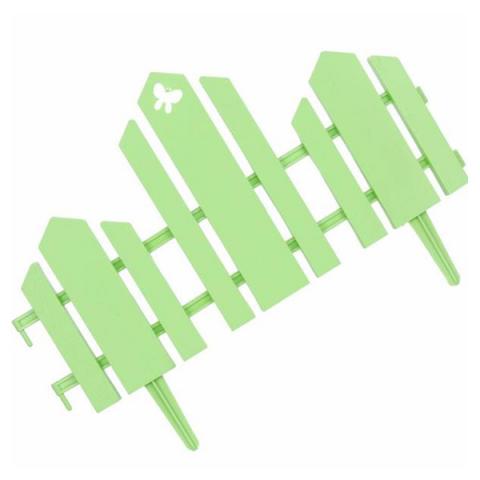 Заборчик Домик 0,19м*1,7м салатовый /Фулерен/