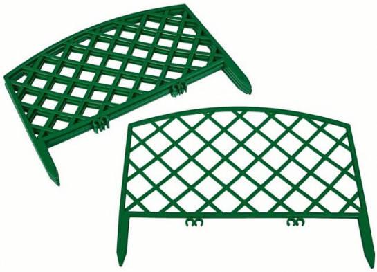 Заборчик Решетка 0,36м*2,3м зеленый /Фулерен/