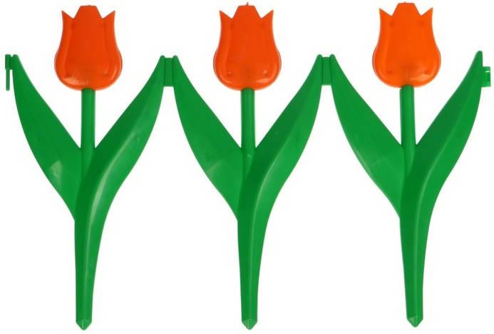Заборчик Тюльпан 0,3м*2,25м оранжевый /Фулерен/