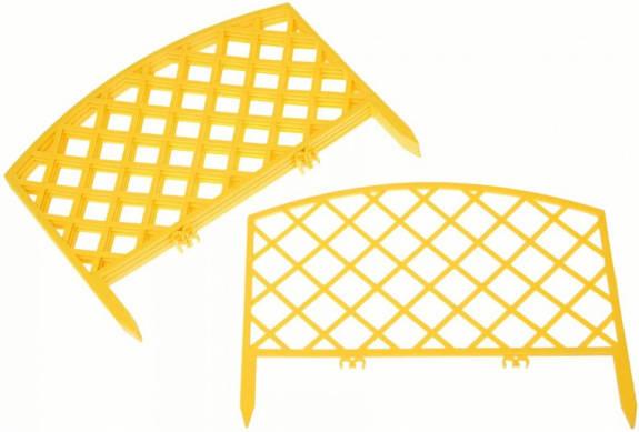 Заборчик Решетка 0,36м*2,3м желтый /Фулерен/