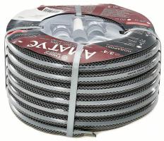 Шланг поливочный армированный 3/4 20 м 3-х слойный АМАТУС классик с набором коннекторов /Дельта/