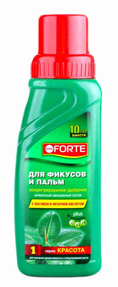 Bona Forte Красота для фикусов, пальм 285 мл /Химик/