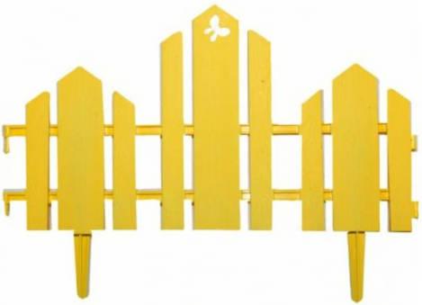 Заборчик Домик 0,19м*1,7м желтый /Фулерен/