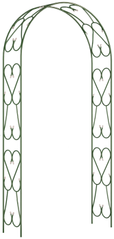 Арка Прямая широкая металл (разборная) в:2,4 м ш:1,2-1,3 г:0,36 м /Рустрейд/