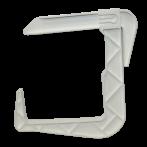 Крюк универсальный для ящика Sahara 23*23*2,5 см белый /Флора-Пласт/
