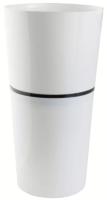 Кашпо Double Flowerpot из 2-х частей d25,h46,5 см белый /Флора-Пласт/DDB25