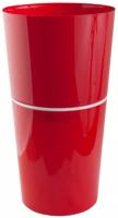 Кашпо Double Flowerpod из 2-х частей D29 H55.5 красный  /Флора-Пласт/