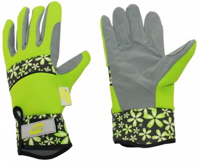 Перчатки для роз из иск.замши полиэстра зеленый L /LISTOK/
