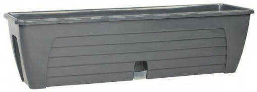Балконный ящик двойной с 2-мя картриджами LIDO PLUS 12,3 л Антрацит /Сантино/