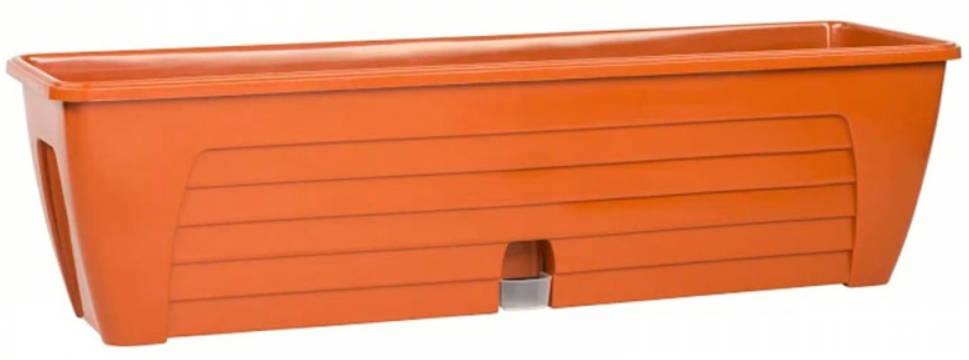 Балконный ящик двойной с 2-мя картриджами LIDO PLUS 12,3 л Терракот /Сантино/