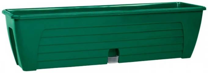Балконный ящик двойной с 2-мя картриджами LIDO PLUS 12,3 л Зеленый /Сантино/